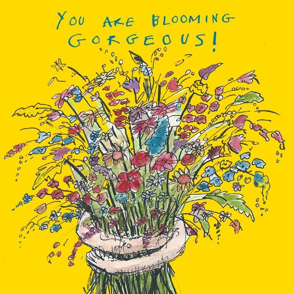 """You Are Blooming Gorgeous!"" kortti by Poet and Painter."
