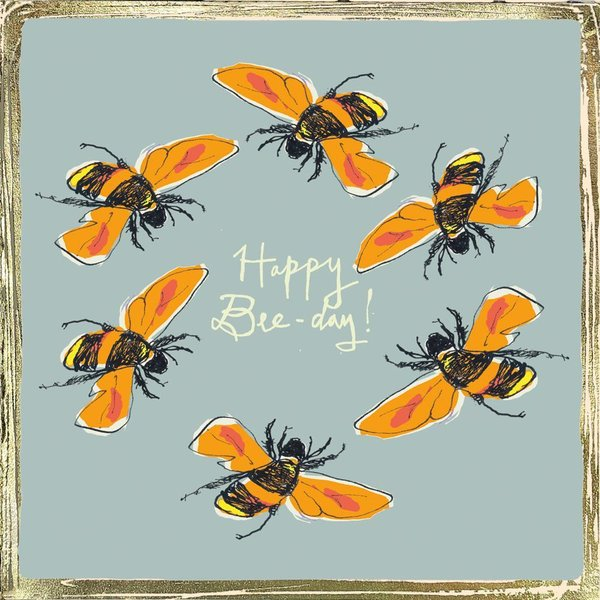 """Happy Bee- Day "" kortti by Poet and Painter."
