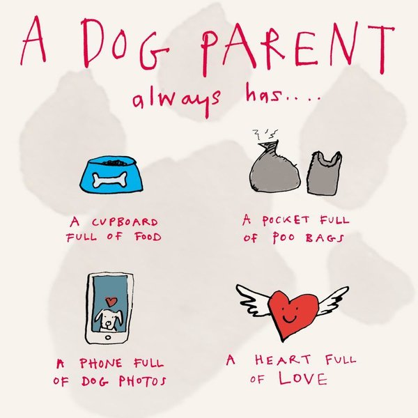 """The Dog Parent Always Has..."" kortti by Poet and Painter"
